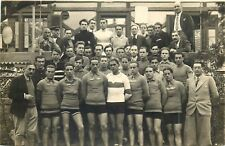 Swiss cyclists team 1934 real photo Mme. Wurgler Pontaise Lausanne postcard