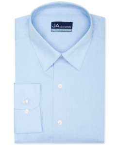 John Ashford Solid Dress Shirt in Light Blue, Neck 17.5, Sleeve 32/33