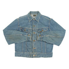 Vintage LEE Denim Jacket | Small | Retro Biker Trucker Jean Collared Distressed