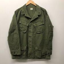 Vintage Jungle Fatigue Shirt / Rip-Stop, Size Large/Long Us Army K-10