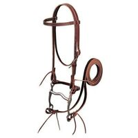 """Weaver Leather Latigo Leather Browband Bridle with 5"""" Curb Bit and 6' Reins"""