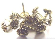 1000 pcs Small Rosette Floral Head Decorative Tack  00006000 Upholstery Nail Antique Gold