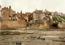 "P37 Vintage 1890's Photochrom Photo Robin Hood's Bay Whitby - Print A3 17""x12"""
