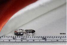 Huggie Hinged Hoop Cz Small Earrings~Mh-6-F Black 3 Stones 925 Sterling Silver