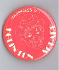 """1980s Eglinton Square Toronto Mall 2.25"""" Advertising Pinback Button Canada Clown"""