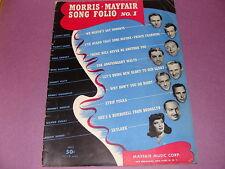 Morris Mayfair Song Folio No 1 1943 piano guitar banjo