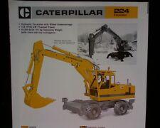 Caterpillar 224 Wheeled Excavator ORIGINAL SALES BROCHURE