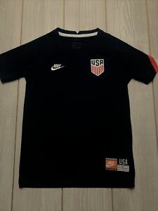 New Nike Team USA Youth Soccer Breathe Pre Match Jersey Size Kids Small Blue Red