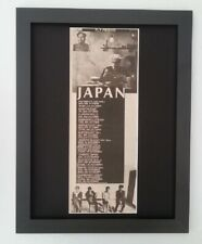 JAPAN*David Sylvian*UK Tour*1982*ORIGINAL*POSTER*AD*FRAMED*FAST WORLD SHIP