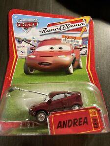 Disney Pixar Cars Race O Rama Andrea 2009 Rare Variation No Press Sticker #89