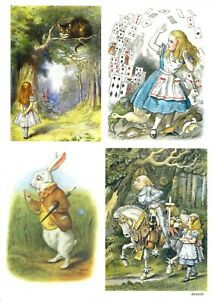 Rice Paper for Decoupage Scrapbook and Craft Alice in Wonderland 222