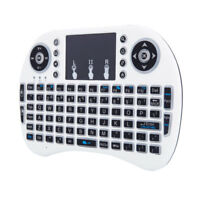 US 2.4GHz MINI i8 3-color Backlit Wireless Keyboard with Touchpad Game Play