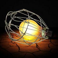 Retro Metall Lamp-Cage Komplett Lampen-Schutzkorb Birne Schutzkorb Garten##