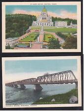 Vintage Postcard Lot CANADA - MONTREAL St. Joseph Oratory & Victoria Bridge