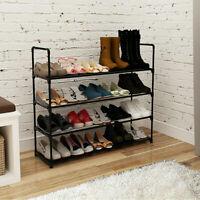 4 Tier Shoe Rack Shoe Tower Shelf Shoe Storage Organizer Cabinet Holds 20 pairs