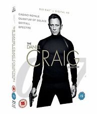 DANIEL CRAIG JAMES BOND BLU RAY COLLECTION 4 Movie Film SPECTRE SKYFALL CASINO R