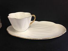 Shelley Regency Tea and Toast/Tennis Set White and Gold 8 Available