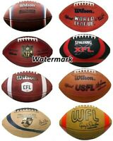 CFL NFL USFL WFL USFL AFL Picture of 8 Different Footballs 8 X 10 Photo Picture
