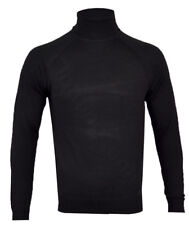 Mens Cotton Rich Roll Turtle Polo Funnel Neck Jumper Fine Knitted Winter S-2XL