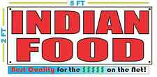 INDIAN FOOD Banner Sign NEW Larger Size Best Price for The $$$ RESTAURANT