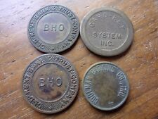 4 PARKING TOKENS PARCOA CARD-KEY TYPE BANK TOKEN