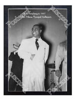 Historic Louis Armstrong, 1947 at New Orleans Municipal Auditorium Jazz Postcard