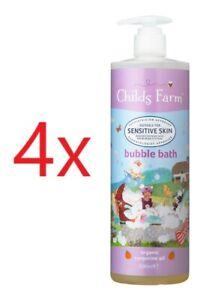 4 x Childs Farm bubble bath, organic tangerine! 500mL! (4 bottles)