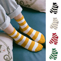Cute Fashion Women Casual Classic Stripe Soft Cotton Warm Sweet Ankle High Socks