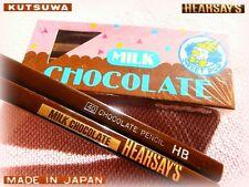 RARE Vintage KUTSUWA CHOCOLATE cioccolato Matite pencil eraser + PENCILS HEARSAY
