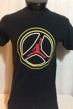 Black Yellow White Red Nike Air Jordan Peace T-Shirt Medium