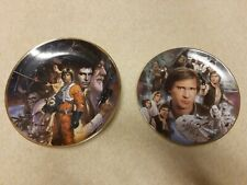 More details for star wars hamilton plate collection - han solo heroes and vilans luke skywalker