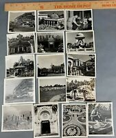 Lot of 15 USAAF In CBI India WWII Photos Captioned Temples Snake Charmers