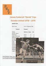 Derek Frye Dundee unida 1978-1979 Original Firmada A Mano Revista Imagen De Corte