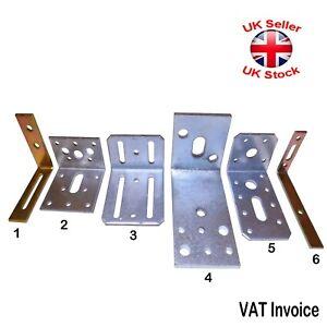 Corner Assembly ADJUSTABLE Angle L BRACKETS Brace YellowSilver Galvanised 6Sizes