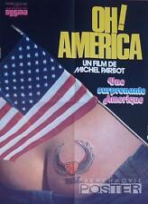 OH AMERICA ! - DOCUMENTARY - SYGMA / AMERICAN FLAG / ASS - RARE ORIGINAL POSTER