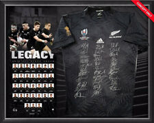 New Zealand ALL BLACKS 2019 Squad Signed & Framed World Cup Jersey OFFICIAL