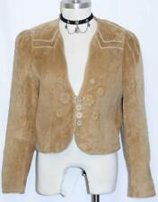 Leather Jacket ~ Tan Brown ? Women German Short Winter Western Riding / 6 S