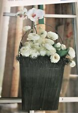 Southern Living at Home Twirly Twigs Wire Door Basket EUC