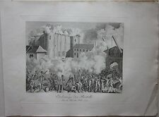 1819 PRISE BASTILLE Denkbuch Révolution française presa Bastiglia  14 jui 1789