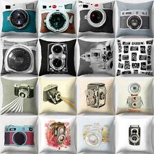 LK _ 18'' Vintage Kamera Kissenbezug Sofa Wurf Taille Kissenbezug Wohndeko