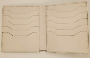 TOM FORD Bifold Large (10 slot)  CARD HOLDER WALLET White Leather ITALY NWOT.