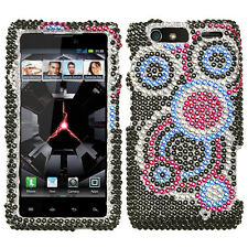 For Motorola DROID RAZR MAXX Crystal BLING Hard Case Snap on Phone Cover Bubble