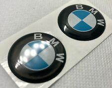 2pcs. BMW Light Reflective Logo 3D Domed Sticker. Size 30mm.