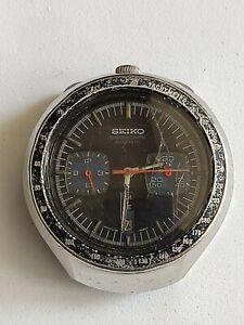 Reloj watch Seiko Vintage Bullhead 6138-0040 Black For Parts Para Partes No...