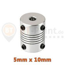 Wellenkupplung 5x10mm Aluminium RepRap CNC Prusa I3 3D Drucker 5mm shaft coupler