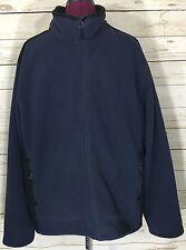 Men's Tek Gear Blue Black Fleece Zip-Up Jacket Size XL