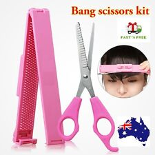 Fringe Cut Tool Kit Scissors + Clipper Comb Guide Ruler Styling Hair Bang Styles