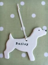 Porcelain Dog Decoration Personalised Clay Gift Ceramic Brooch