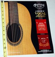 CF Martin Classical Acoustic Guitar Strings Store Display Promo Poster NeverHung