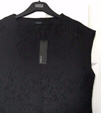 M&S s22 Ladies Autograph Black Applique Embossed Sleeveless Top Blouse BNWT